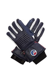 Fusalp Askell Fleece Lined Leather Gloves Navy