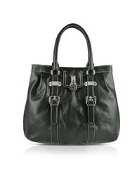 Buti Large Grained Leather Tote Bag Black