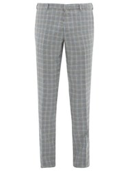Paul Smith Houndstooth Wool Blend Tailored Trousers Multi