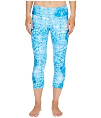 Onzie Capri Pants Tie Dye Blue Women's Casual Pants