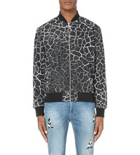Iceberg Cracked Ice Print Shell Jacket Pattern