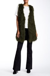 Elizabeth And James Becket Genuine Tibetan Lamb Fur Vest Green