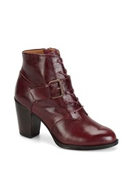 Sofft Wendy Lace Up Booties Merlot