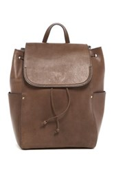 Frye Casey Leather Backpack Gray