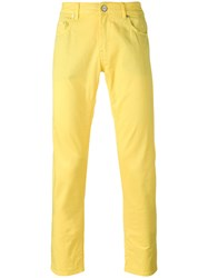Pt01 Classic Chino Trousers Men Cotton Spandex Elastane 30 Yellow Orange