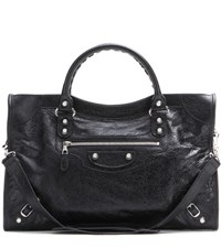 Balenciaga Giant 12 City Leather Tote Black