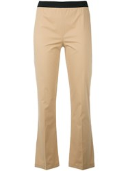 Twin Set Flared Trousers Nude Neutrals