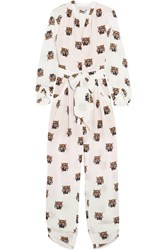 Stella Mccartney Monia Printed Silk Crepe Jumpsuit White
