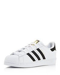Adidas Superstar Foundation Lace Up Sneakers White Black