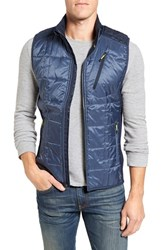 Smartwool Men's 'Corbet 120' Quilted Zip Front Vest Dark Blue Steel