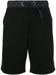 John Elliott Elasticated Fitted Shorts Black