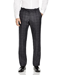 The Men's Store At Bloomingdale's Wool Plaid Regular Fit Trousers Charcoal Plaid