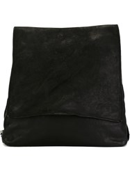 Guidi Full Grain Flat Square Backpack Black