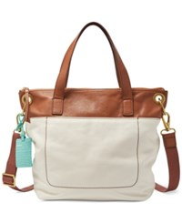 Fossil Keely Tote Bone Brown