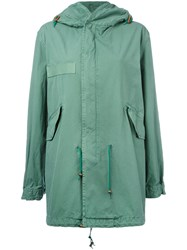 Mr And Mrs Italy Zipped Hooded Coat Green