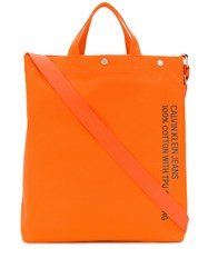 Calvin Klein Utility Tote Bag Orange