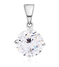 Carat 2Ct Round Cut Pendant Female