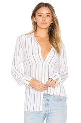 Equipment Holly Striped Button Up White