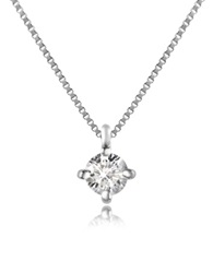 Forzieri Diamond Stud Necklace White Gold