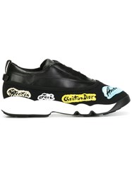 Christian Dior Embroidered Sneakers Black