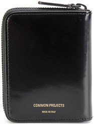 Common Projects Zip Coin Wallet Calf Leather Black