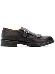 Doucal's Buckled Derby Shoes Brown