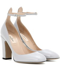 Valentino Tan Go Patent Leather Pumps Grey
