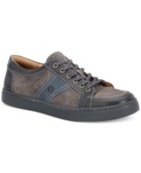 Born Men's Baum 6 Eye Moc Toe Sport Oxford Sneakers Men's Shoes Gray