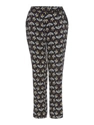 Biba Fan Crane Print Trousers Multi Coloured Multi Coloured
