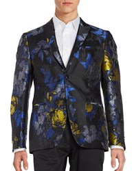 Tallia Orange Floral Dinner Jacket Blue