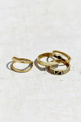 Urban Outfitters Cityspace Ring Set Gold