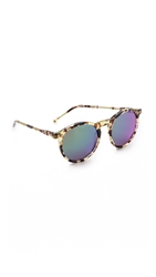 Wildfox Couture Steff Deluxe Sunglasses Amber Tortoise Green