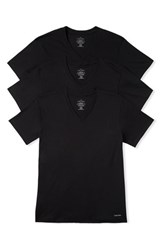 Calvin Klein Men's 3 Pack Classic Fit T Shirt Black