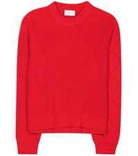 Wood Wood Viktoria Knitted Cotton Sweater Red