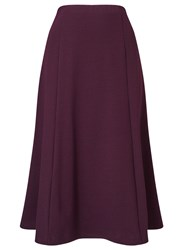Eastex Aubergine Ponte Skirt Shorter Purple