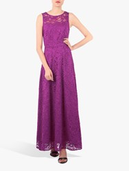 Jolie Moi Fit And Flare Lace Dress Magenta