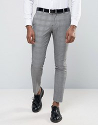 Selected Wedding Check Suit Trousers Grey