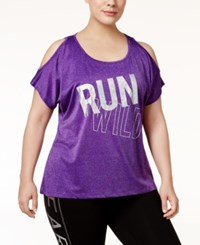 Material Girl Active Plus Size Run Wild T Shirt Only At Macy's Purple Party