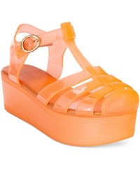 Wanted Jellypop Flatform Jelly Sandals Women's Shoes Orange