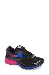 Brooks Women's Launch 4 Running Shoe Black Fuchsia Purple Blue