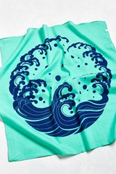 Urban Outfitters Wave Bandana Teal