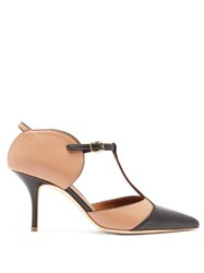 Malone Souliers Imogen T Bar Leather Mules Black Nude