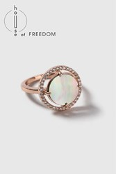 Topshop House Of Freedom Abalone Ring Grey