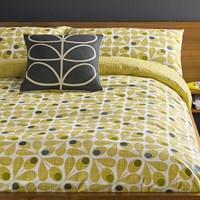 Orla Kiely Acorn Cup Duvet Cover Olive Green
