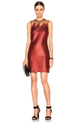 Christopher Kane Mini Glitter Lightning Dress In Red Metallics