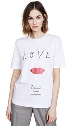 Edition10 Love Printed Tee White