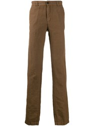 Massimo Alba Straight Leg Chinos Brown