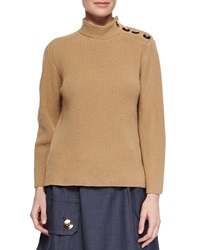 Marc Jacobs Cashmere Blend Military Rib Knit Sweater X