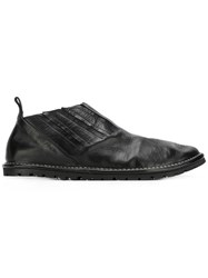 Marsell Pleated Loafers Black