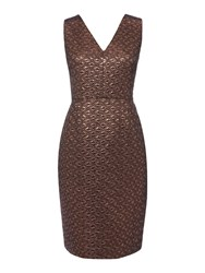 Therapy Hadley Jacquard Bodycon Dress Bronze